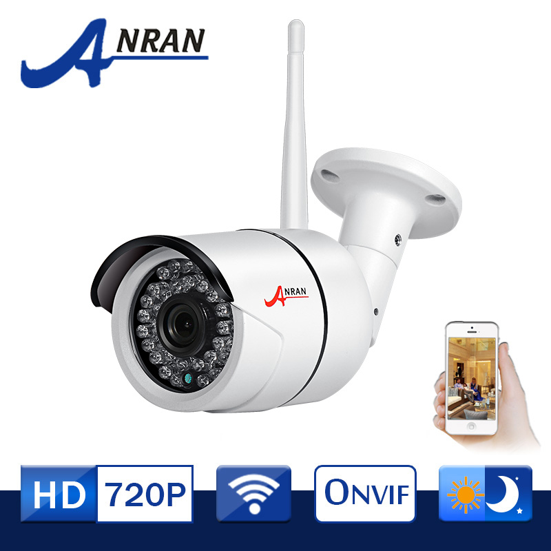 ANRAN IP66 Waterproof Outdoor Bullet IP font b Camera b font Wifi 720P HD Video Surveillance