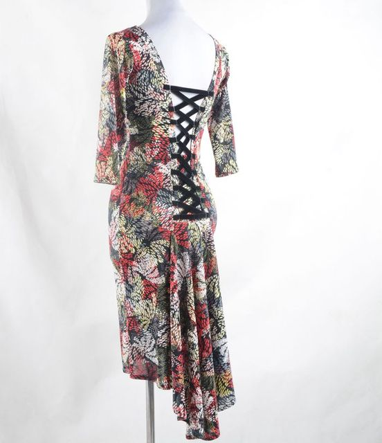 34dd425ce255 flower latin dance dress women tango dress salsa rumba modern dance ...