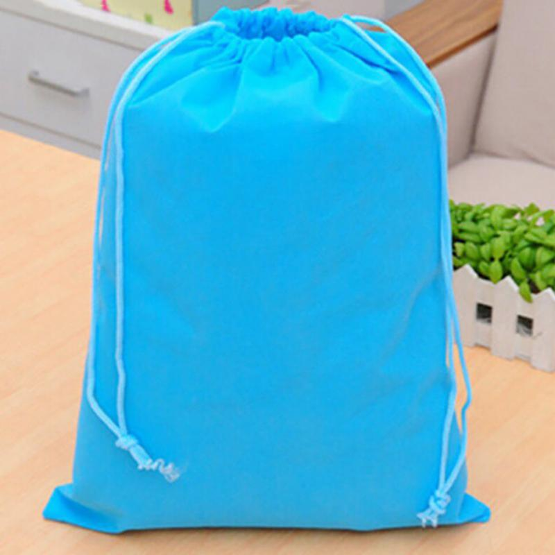 Gym Storage Bag Nylon Sports Drawstring Riding Backpack Shoes Container Bag Organizer Storage Basket Waterproof Color Random Storage Baskets