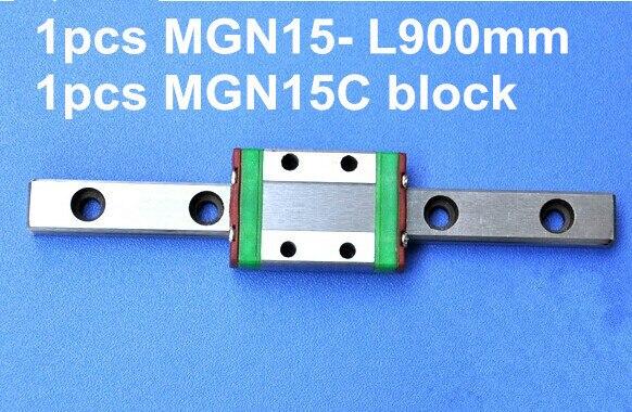 1 pièces MGN15 L900mm linéaire rail + 1 pièces MGN15C bloc