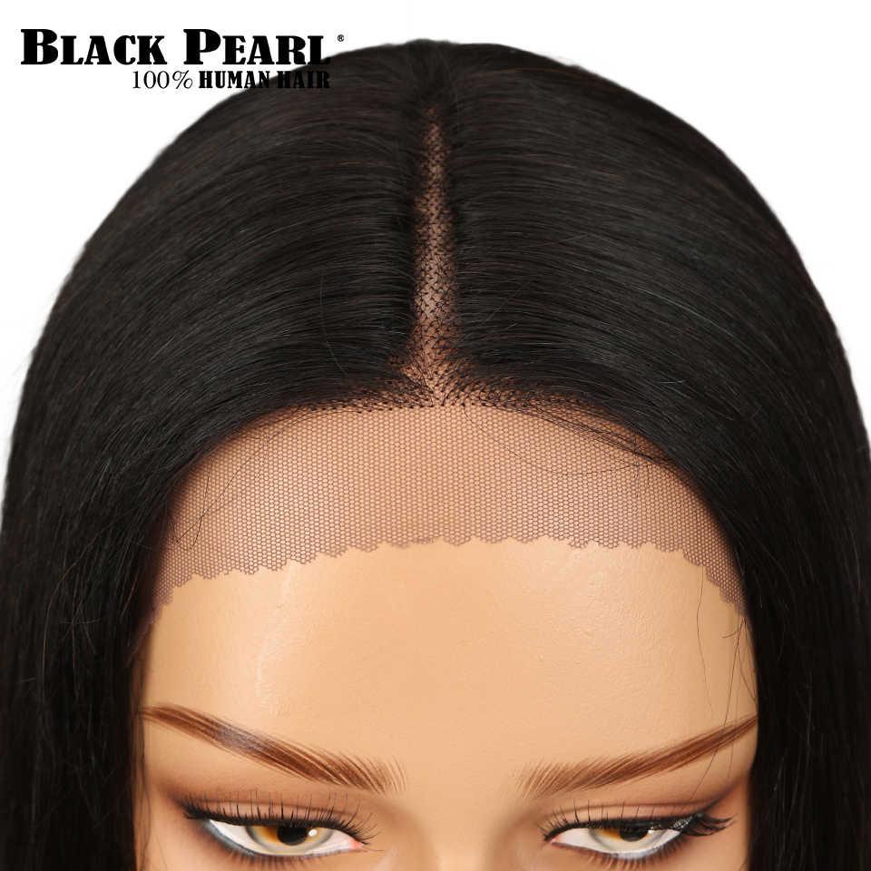 От Black Pearl, 1b/30 эффектом деграде (переход от темного к Синтетические волосы на кружеве человеческих волос парики для чернокожих Для женщин прямые Полный конец малазийские волосы с однонаправленной кутикулой парики средней части
