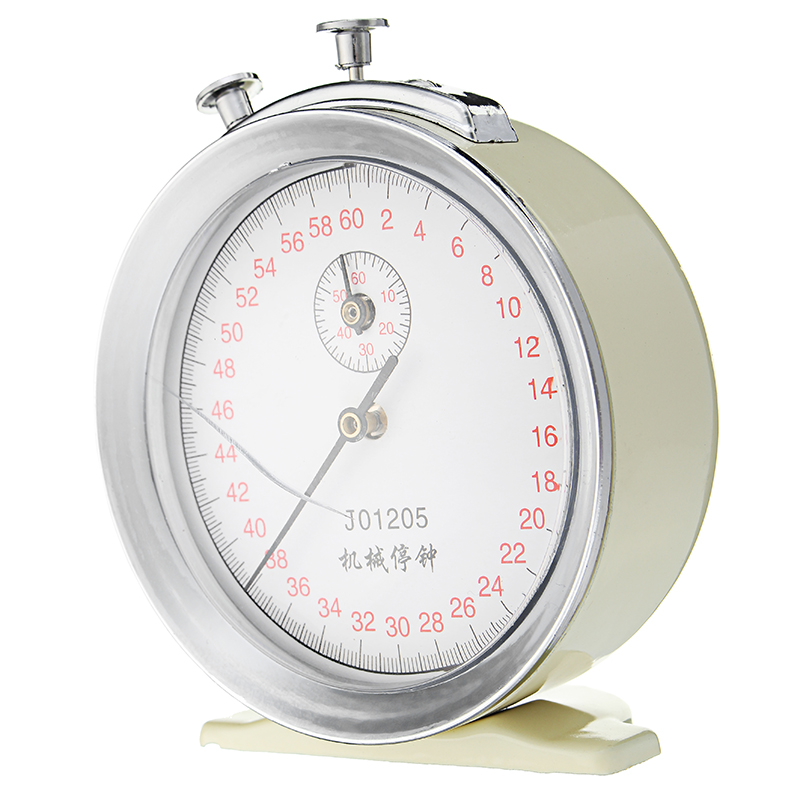 Mechanical Stopwatch Stop Clock 60s 0.1s Timer School Teaching Aid