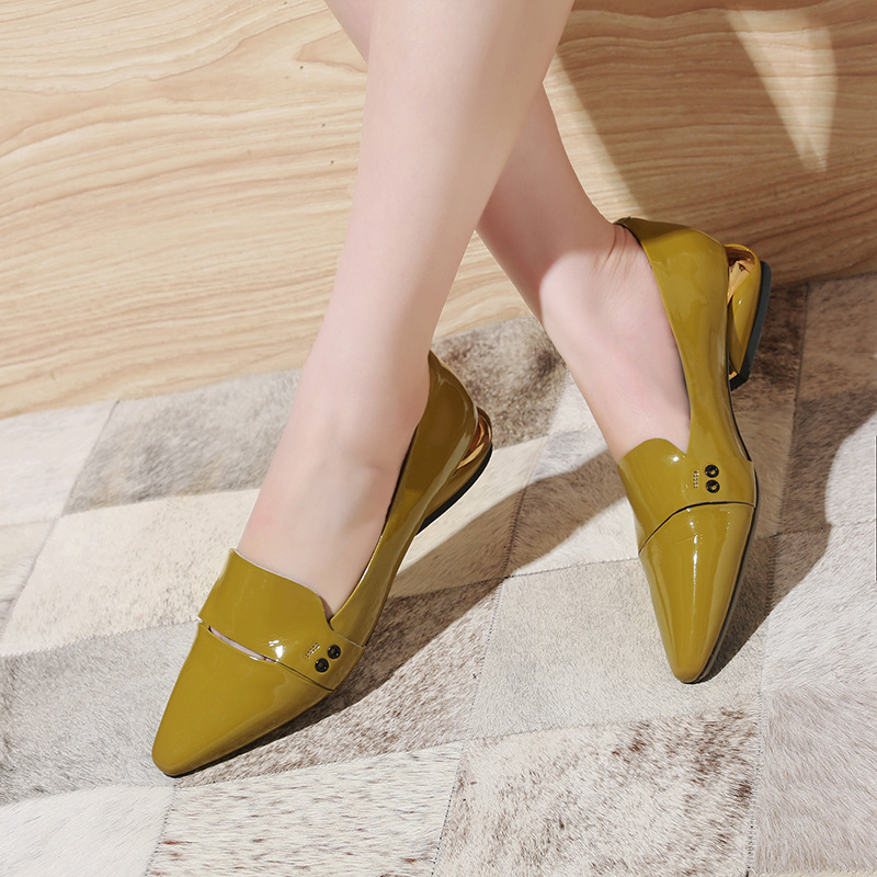 Pisos Las Ocasionales Baja Boca Jane Venta negro Mujeres Zapatos 2018 Verano Cuero De Beige Amarillo Suave Del Mary Genuino Gris q6Ptfz