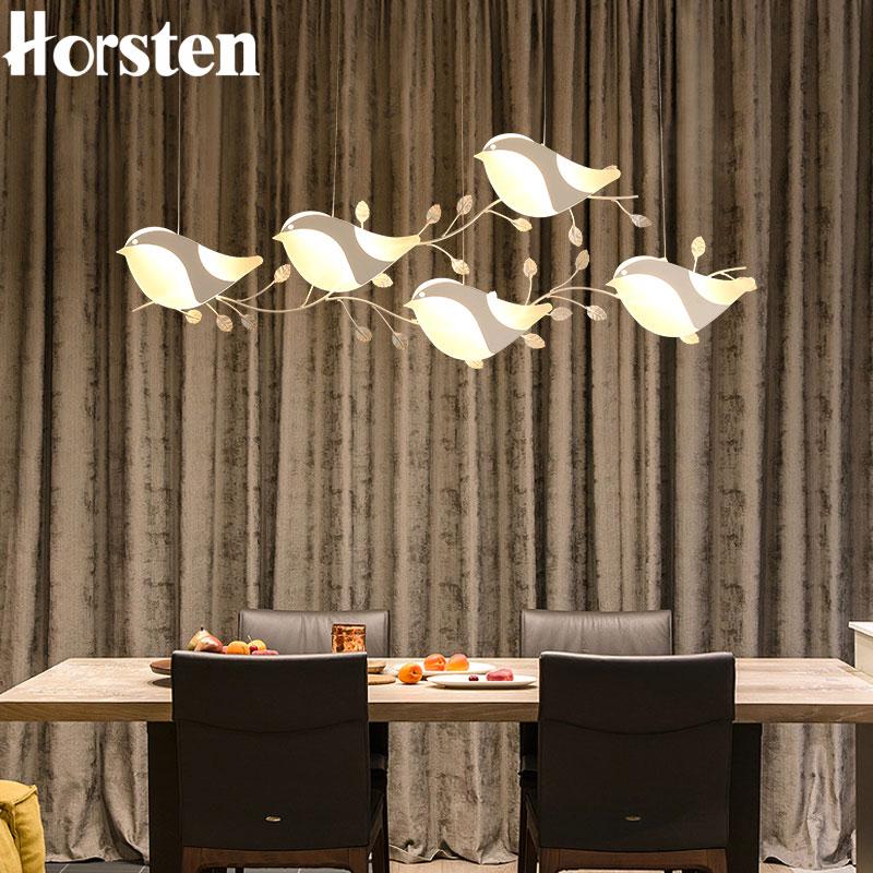 купить Nordic Creative Bird Pedant Lamp 120cm 25W Personality Restaurant Pendant Lights Hanging Lamp For Dining Room Bar Clothing Store по цене 9795.04 рублей