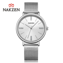 NAKZEN watch female student Korean version of the female diamond casual fashion new ladies quartz watch SS4203L цена