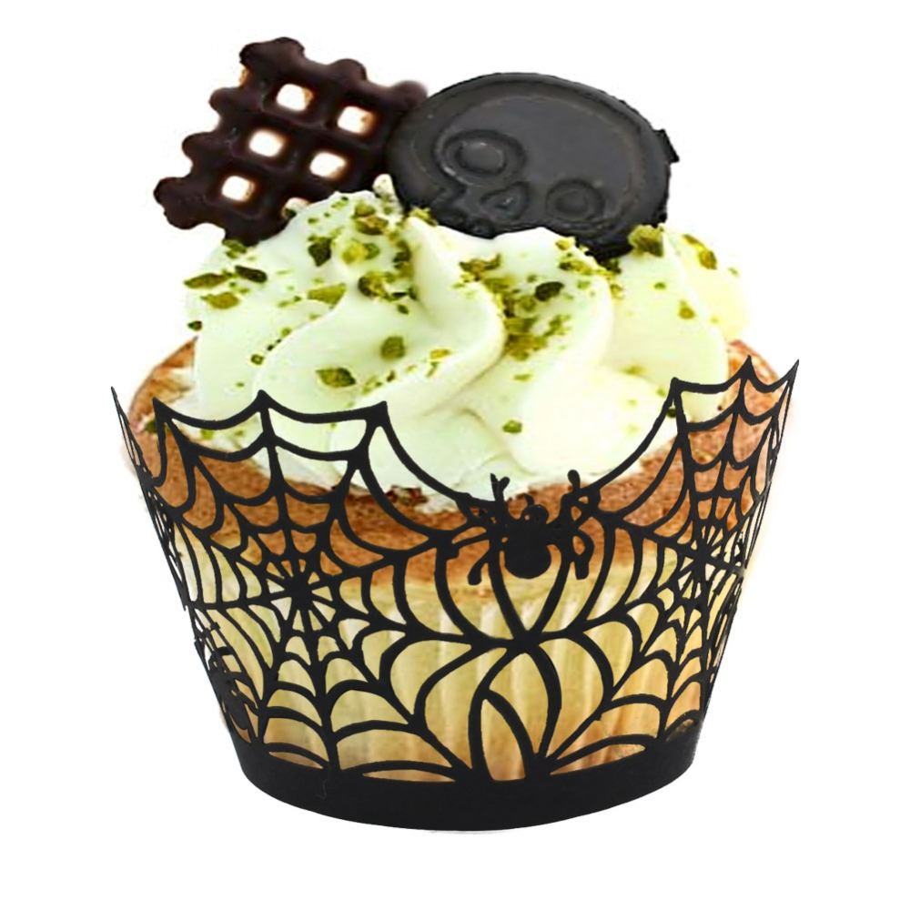 12pcs cupcake wrappers liners for halloween decoration