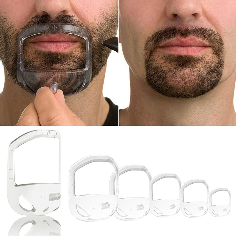 High Quality Shower Salon Mustache Beard Styling Template Shaving Shave For Beard Shape Style Comb Care Tool 5 Pcs