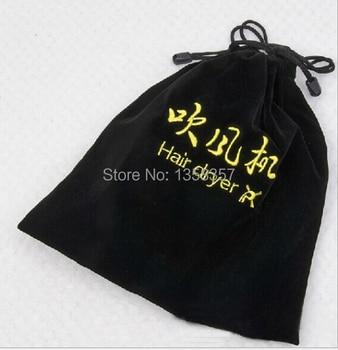customize&wholesale black small velvet jewelry pouch velvet gift pouch velvet drawstring pouch bag custom logo hair dryer bag
