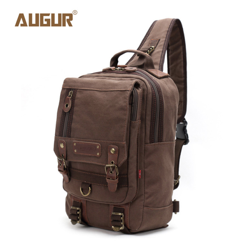 New Men/'s Canvas Shoulder Bag Chest Pack Handbag Casual Travel Military Satchel