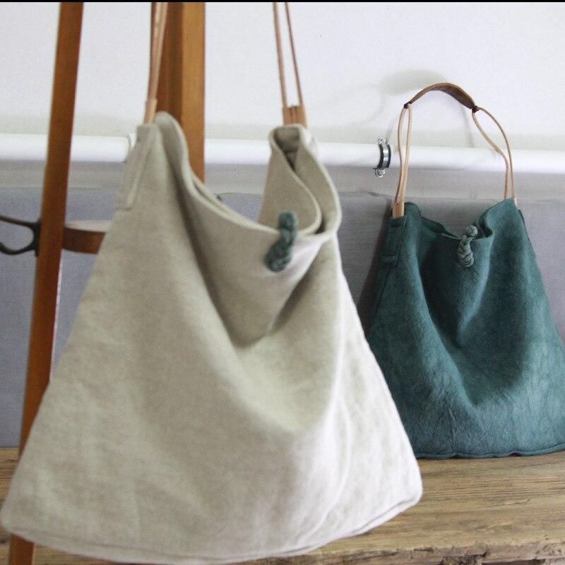 Women Linen Slouch Bag 2019 Casual Over Shoulder Bag Diaper Big Capacity Designer Chinese Old Style Tribal Ethnic Messenger Bag