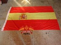 Бесплатная доставка 120 г/м2 трикотажный полиэстер испанский национальный флаг  90*150 см  ветровка  анти-УФ  цифровая печать  флаг король