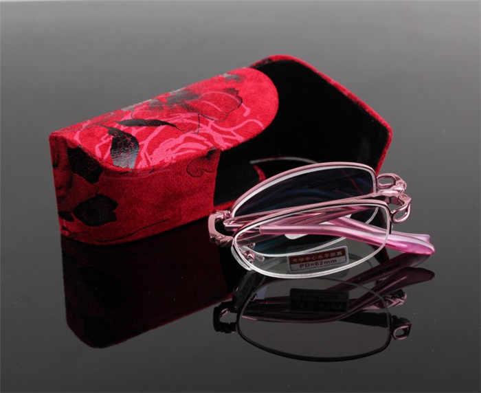 [ONE GLASSES + GIFT GLASSES] Складные женские очки для чтения ультра светильник анти усталость портативная смола + 1,0 + 1,5 + 2,0 + 2,5 + 3,0 + 3,5 + 4