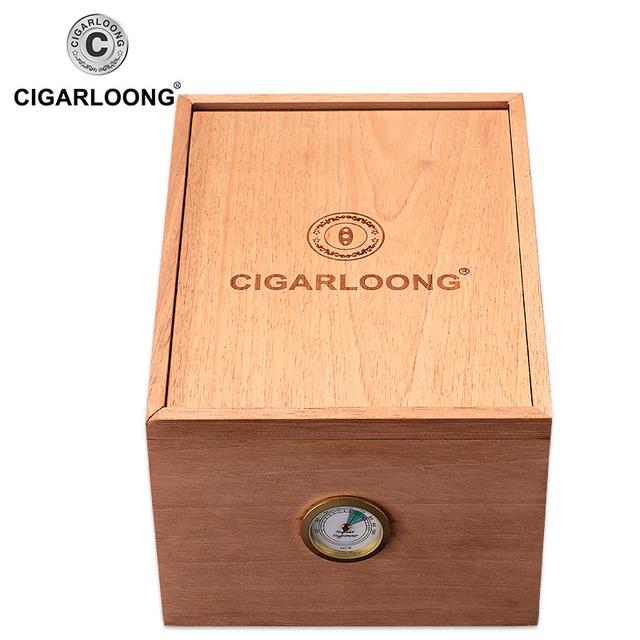 Humidor Cedar Wood Large Capacity Cigar Moisturizer Box