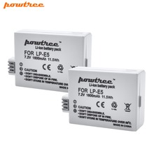 цена на 7.2V 1600mAh LP-E5 LPE5 LP E5  Camera Battery for Canon EOS Rebel XS, Rebel T1i, Rebel XSi, 1000D, 500D, 450D, Kiss X3,X2,L15