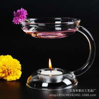 New 2016 Oil Aroma Candle Oil Burner Hold Tealight Fashion Incense Censer Glass Candlestick Handmade Candle