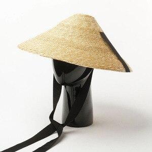 Image 2 - מופע חדש קיץ כובע חיצוני גדול אפס מקום שמש הגנה קש כובע עם שחור להקת עניבת נשים גברים קעור תקליטונים דרבי חוף כובע