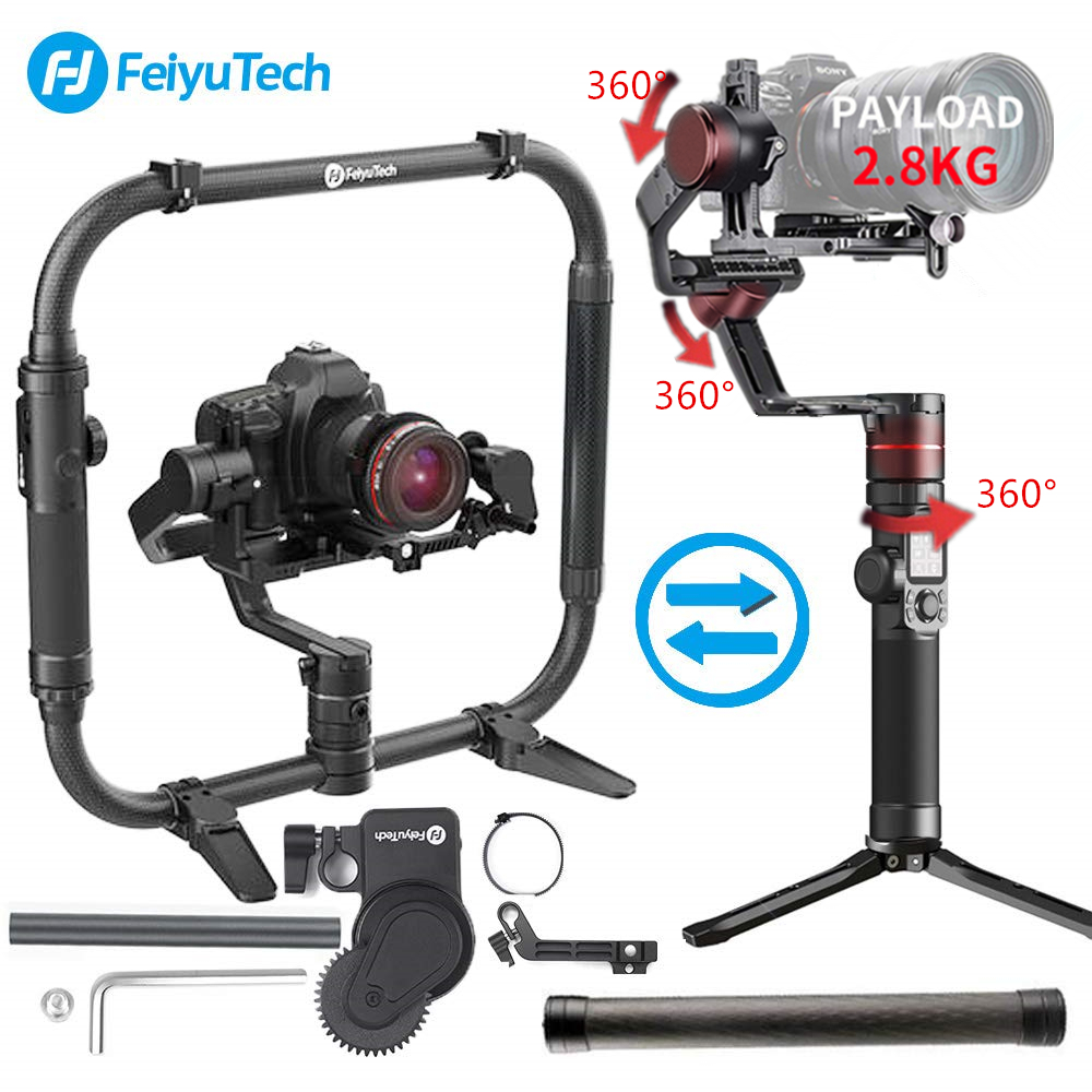 FeiyuTech Feiyu AK2000 AK4000 AK4500 3-Axis Handheld Camera Stabilizer Gimbal for Sony Canon Mark Panasonic GH5 Nikon D850