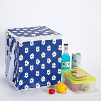 Новый сумка-холодильник с принтом складной большой Изолированные сумки портативный доставки мешок контейнер для упаковки пищевых продукт...