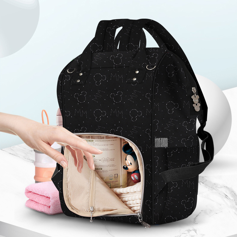 Disney Mommy Bag USB Heater Oxford Stroller Bag Multifunction Maternity Backpack Waterproof Mummy Travel Diaper Bag Baby Product