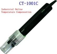 Electrodo de pH En Línea Industrial 10 M Cable Sensor de Electrodo de PH Con 10 K Coeficiente de Compensación de Temperatura de Detección de PH En Línea