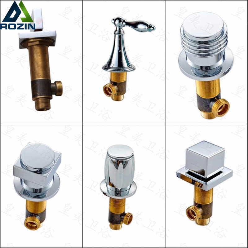 Chrome Brass Hot And Cold Water Bathtub Faucet Switch Bathroom Sink Faucet Side Handle Valve