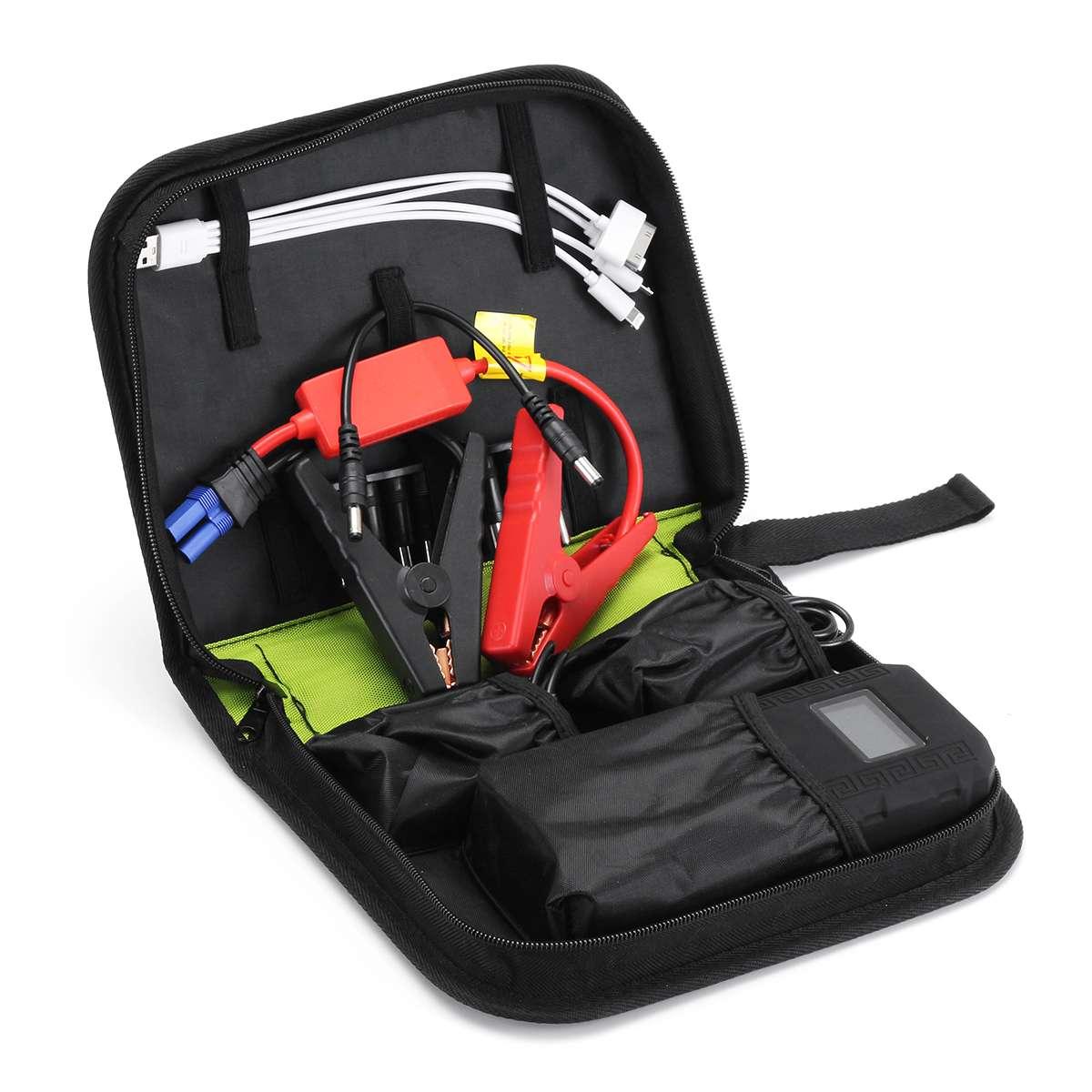 Pratique 68800 mAh 12 V 2USB voiture chargeur de batterie démarrage voiture saut démarreur Booster batterie externe Kit d'outils pour démarrage automatique dispositif