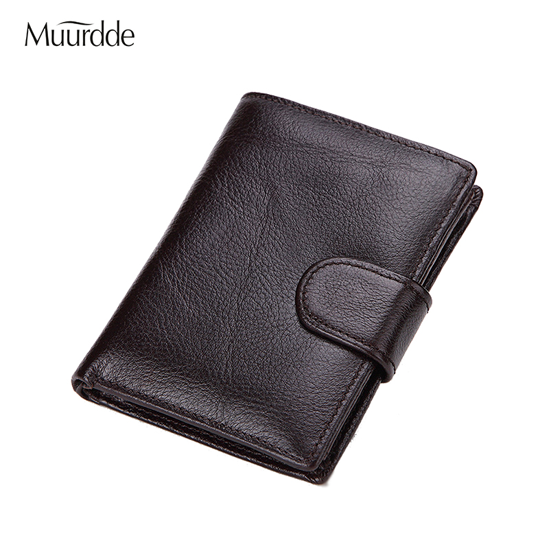 2018 New Slim Genuine Leather Mens Wallet Unisex Cowhide Cover Coin Purse Small Brand Male Credit&ID Multifunctional Wallets