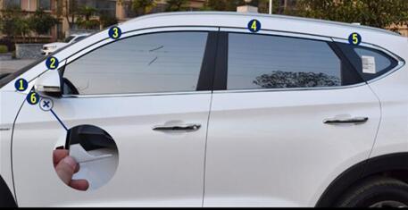 FIT FOR 2014 2017 For Hyundai ix25 (creta) Matte Inner Side Door Handle Bowl Cover 4 pcs /set - 2