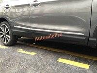 For Nissan Qashqai 2014 2015 2016 Chrome Car Side Door Body Bottom Cover Trim Molding