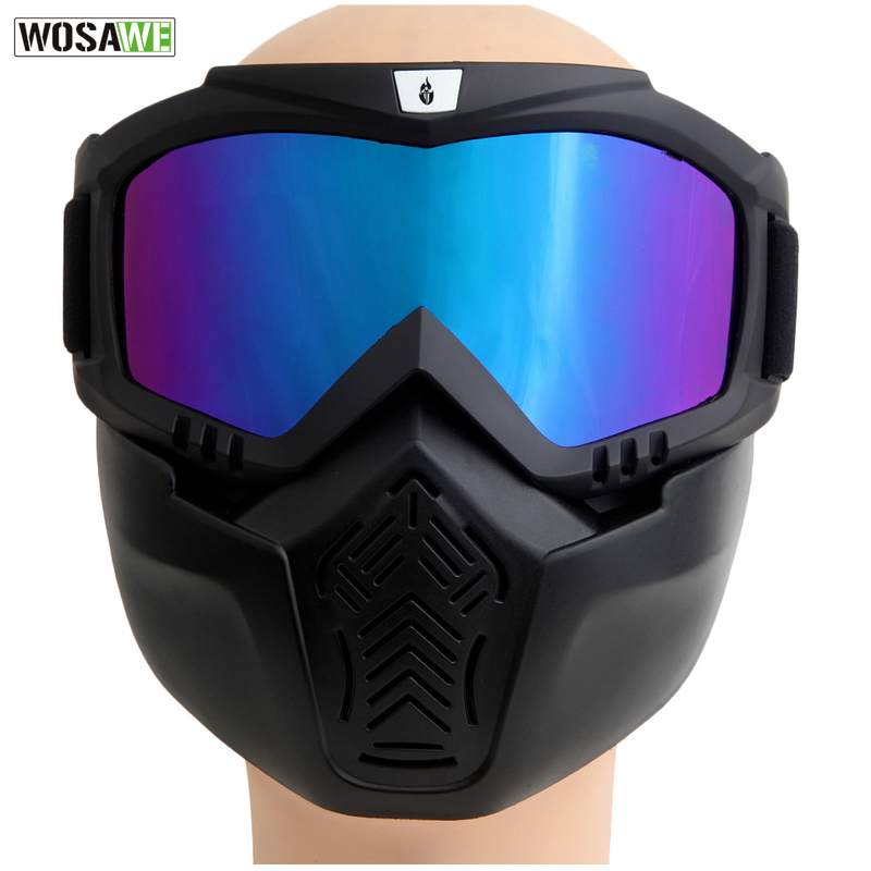 Prix pour WOSAWE Nouveau Hommes Femmes Coupe-Vent Snowboard Lunettes Ski Lunettes Motocross Verre avec Visage Masque Protection Gear