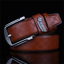2015 New Mens Fashion Belts  Leisure Business Casual Wild High Grade  Luxury Pure Leather Antique Buckle Belts