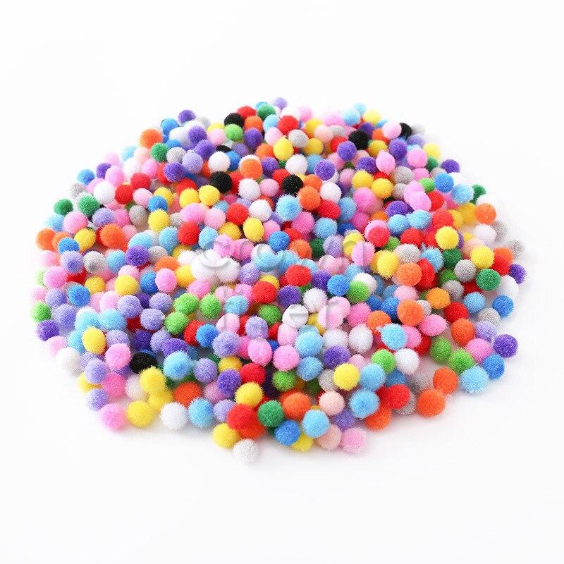 1000pcs Assorted Color Felt Pompom Balls Embellishments for Kids Crafts 10mm