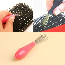 Hot Sale Comb Hair Brush Cleaner Cleaning Remover Embedded Plastic Comb Cleaner Tool Random Color(China)