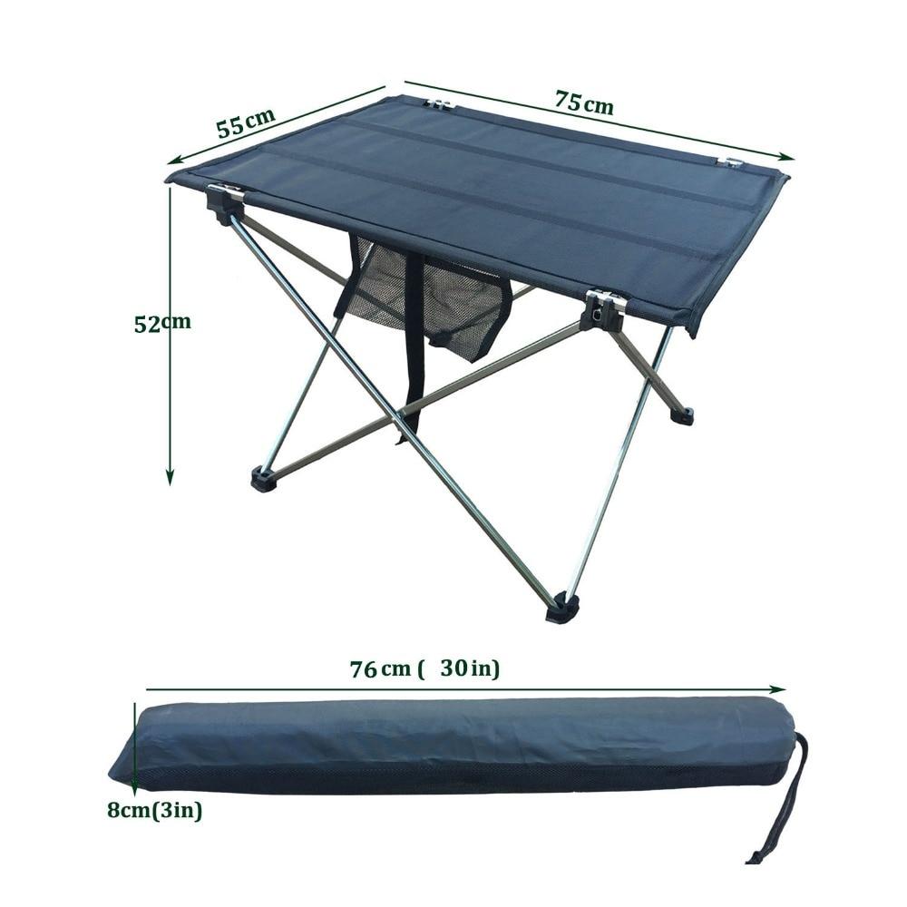Vanjski stol za kampiranje sa sklopivim stolom od aluminijske legure - Namještaj - Foto 6