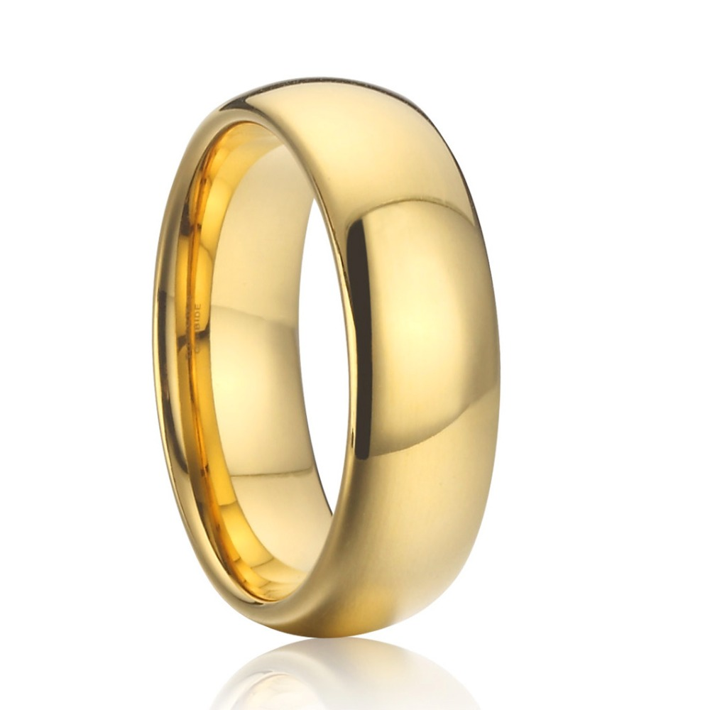Cheap Wedding Ring Male: Aliexpress.com : Buy Gold Color Wedding Band Tungsten Ring