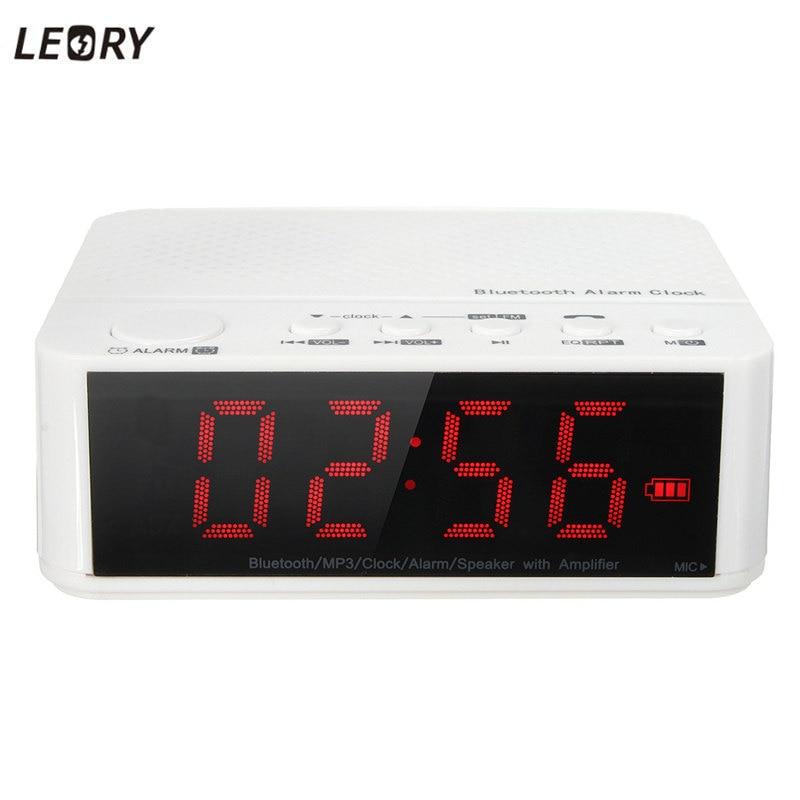 leory new digital led display alarm alarm clock with bluetooth speaker speaker fm radio mp3. Black Bedroom Furniture Sets. Home Design Ideas
