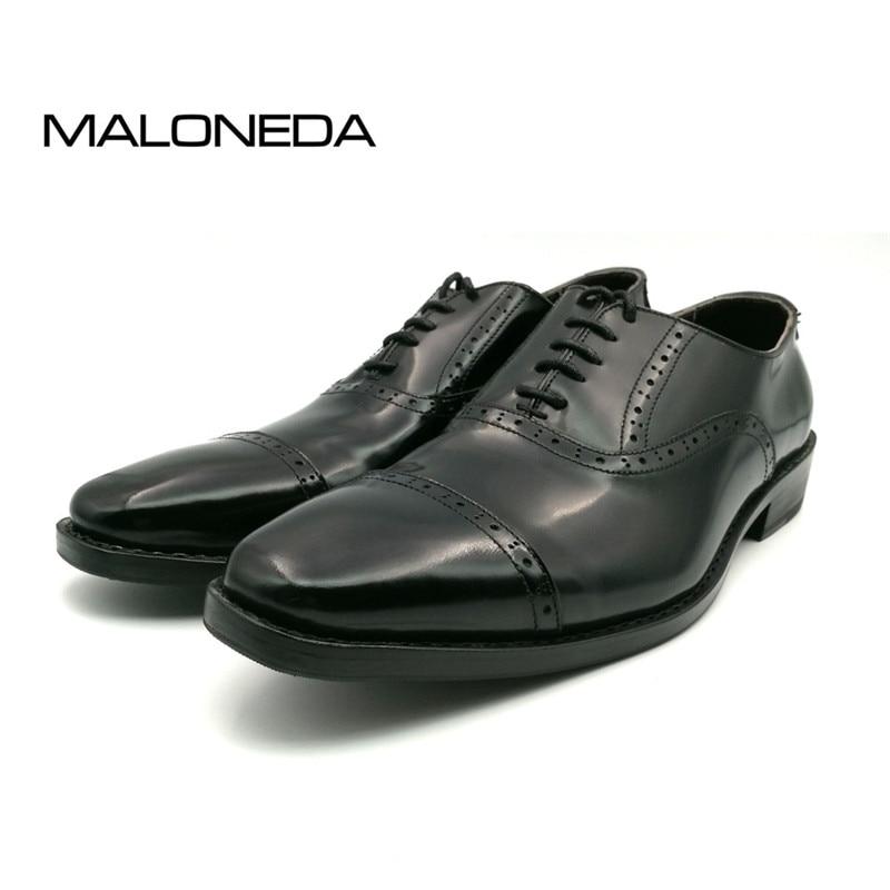 SP51 - Zapatos Oxford de cuero genuino de los nuevos hombres marrones - Zapatos de hombre - foto 6