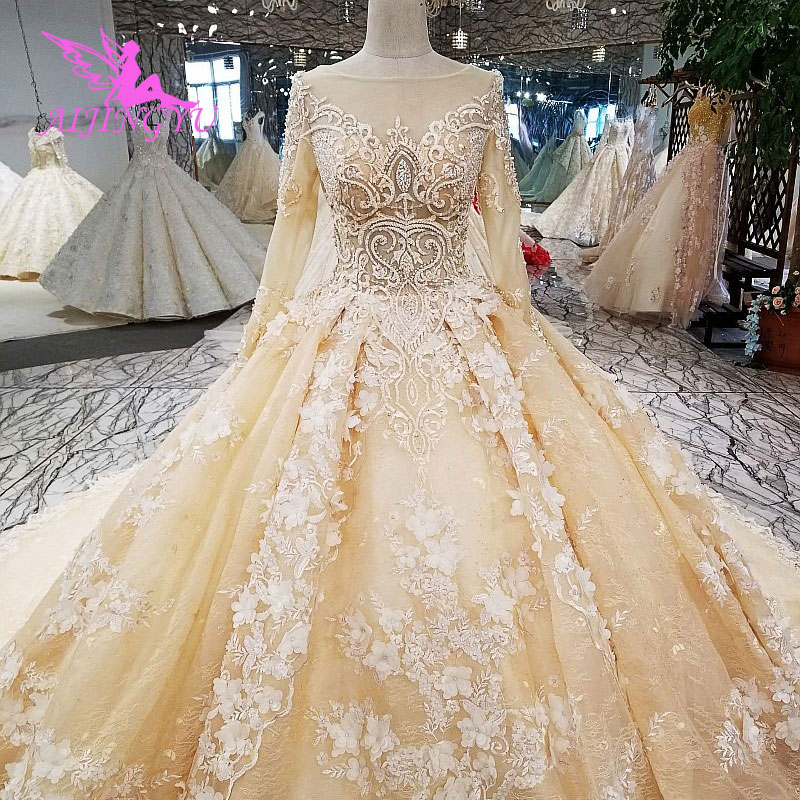 AIJINGYU Wedding Dresses Plus Size With Sleeves Unique Gowns Hangzhou Xxxl Size Wholesale Irish Indian Gown Sexy Wedding Dress