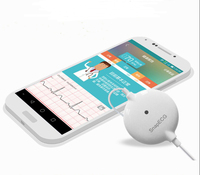 Portable Mini wearable ECG Monitor Measurement Machine Real time heart Support Electrode Holter For Android or IOS Health care