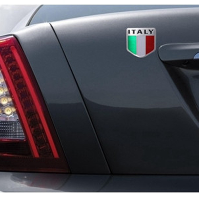 5cm-x-5cm-Auto-Alloy-Metal-3D-Emblem-Badge-Racing-Sports-Decals-Sticker-For-ITALY-Italian