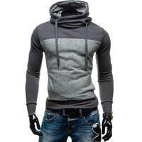 Men Hoodies 2017 Brand Long Sleeve Sweatshirt Stitching Color Coat Turtleneck Men S Slim Fit Sportswear
