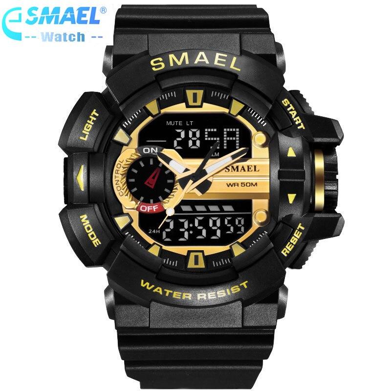 Reloj Digital LED para hombre relojes de pulsera deportivos 2018 reloj famosa marca de lujo SMAEL reloj Digital electrónico relogo Masculino,