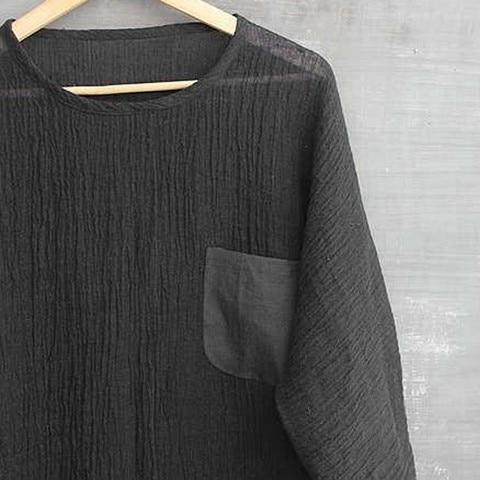 JAYCOSIN shirts Men summer Linen Patchwork blouses fitness Seven-Minute Sleeve Solid shirt Loose Blouse tops Tee streetwear 426 Multan