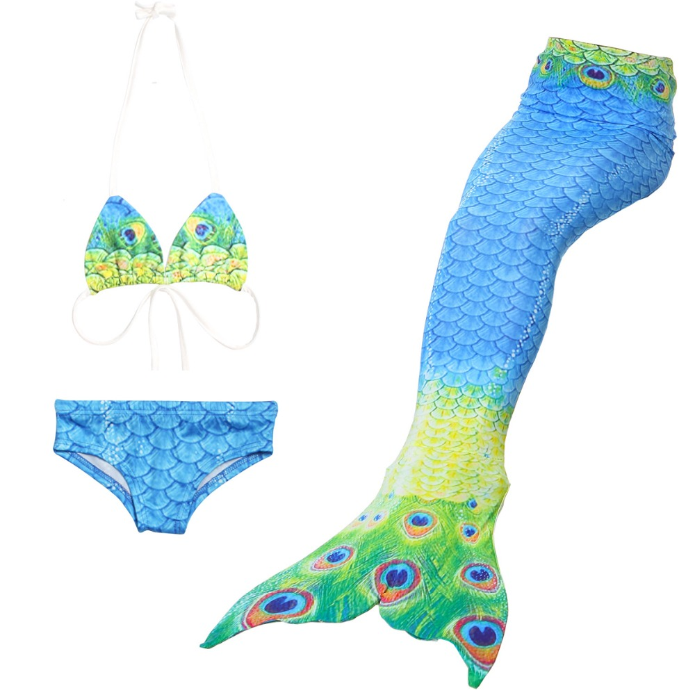 Mermaid Tail for Swimming Children Swimwear Bathing suit monofin Connectable Costume Bikini Mermaid Tail Cosplay Girls Swimsuit new 2016 kid girls swimwear cute bow bright little mermaid one pieces costume swimsuit bathing suit swimwear for 2 7y kids