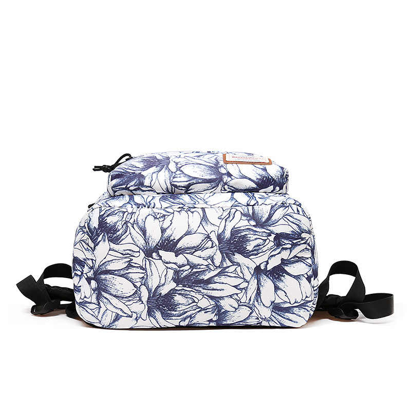 "Mochila Floral de alta calidad para niñas, mochila para ordenador portátil de 14 "", mochila de viaje impermeable para adolescentes"