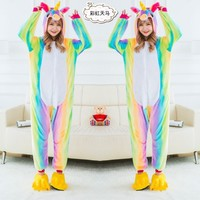 Pegasus Unicorn Animal Pajamas Unisex Adult Pajamas Flannel Pajamas Winter Garment Cute Cartoon Animal Onesies Pyjamas