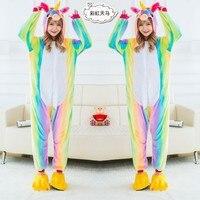 Pegasus Unicorn Animal Pajamas Unisex Adult Pajamas Flannel Pajamas Winter Garment Cute Cartoon Animal Onesies Pyjamas