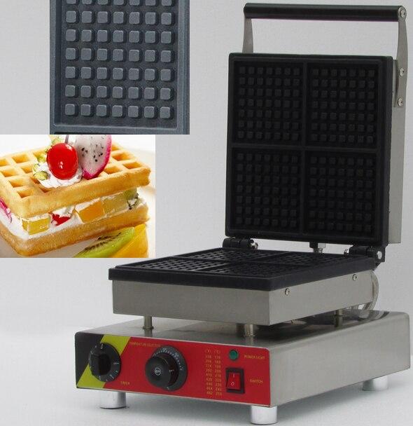 four slices commerical electric waffle maker ,waffle baker,  rectangle shape waffle iron,waffle machinefour slices commerical electric waffle maker ,waffle baker,  rectangle shape waffle iron,waffle machine