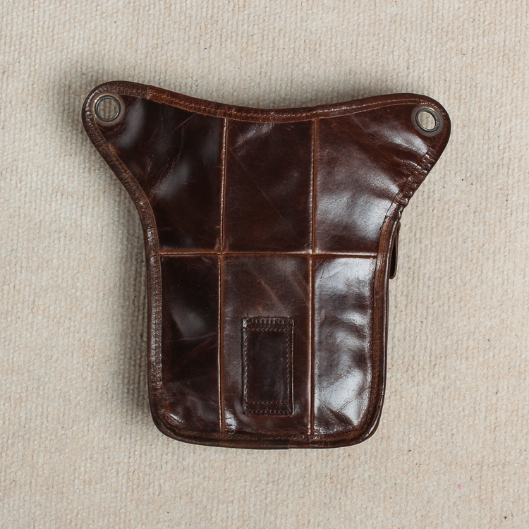 Real Leather Men Design Casual Messenger Crossbody Sling Bag - Bälten väskor - Foto 3