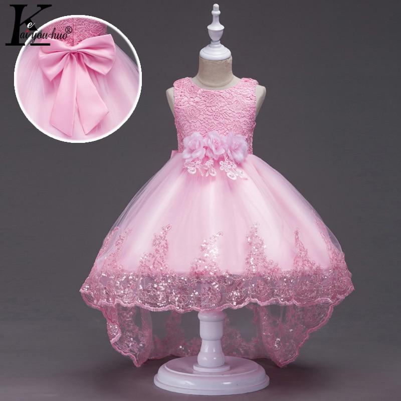 Nueva princesa vestido de las muchachas del partido del verano vestidos de los cabritos para la ropa de las muchachas vestido de boda sin mangas Ropa de los niños traje para los niños